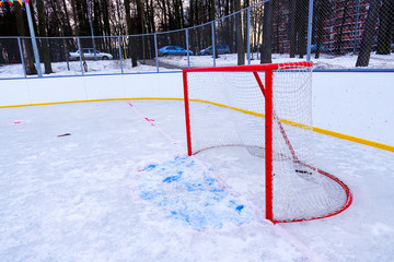Hockey box on the street