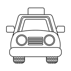 taxi service isolated icon vector illustration design