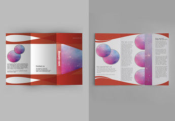 Red Bordered Brochure Layout