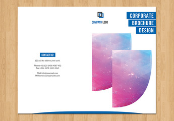 Bifold Brochure with Bold Cover Layout 1