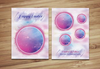 Easter Greeting Card Layout with Photo Placeholder 2