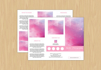 Trifold Grid Style Photography Brochure Layout 2