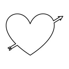 heart love romantic card vector illustration design