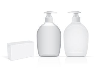 jar with liquid soap for your logo and design