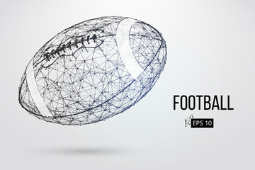 Silhouette of a footballl ball. Vector illustration