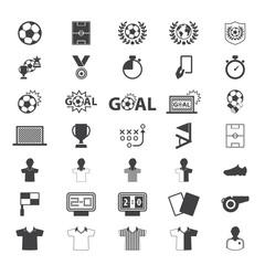 Soccer, football  Icons set. Illustration eps10. Vector