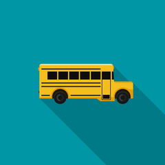 School bus flat icon