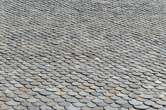 texture toiture ardoise en demi cercle