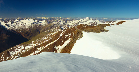 Ötztal Alps from Wildspitze Peak, Austria