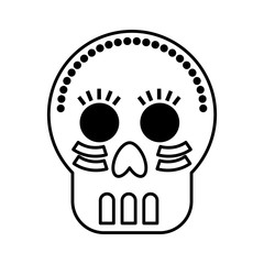 mexican skull mask icon vector illustration design