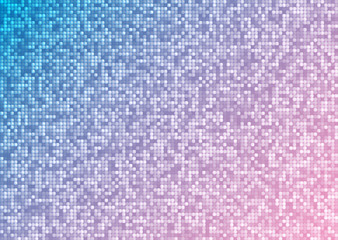 Abstract bright mosaic gradient pink blue background
