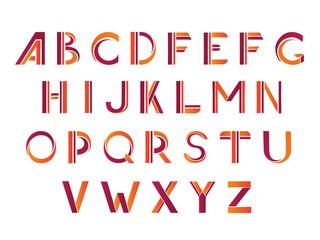 Typographic alphabet design set