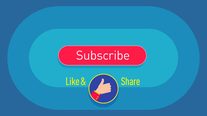 Vector Insertion, background Subscribe, Hand, Button, Thanks, Click, Laik, Share, Video