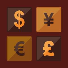 Global money economy icon vector illustration graphic design