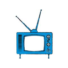 Old television media icon vector illustration graphic design