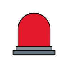 siren or beacon icon image vector illustration design