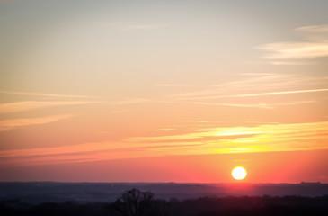 Cityscape Sunset Landscape