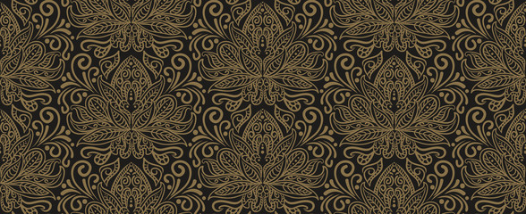 Floral pattern for Your design. Floral wallpaper oriental style, indian, chinese, japanese. Vector image