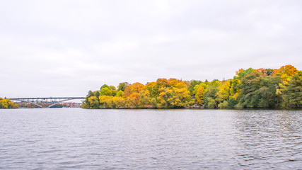 The scenic view along Lake Mälaren