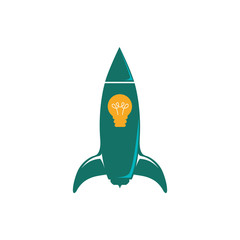 Start up spaceship concept icon vector illustration graphic design