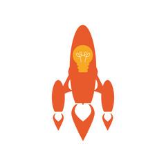 Start up spaceship concept icon vector illustration graphic design