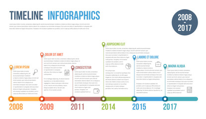 Timeline Infographics Wall mural