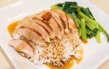 Pork and rice, Thai food