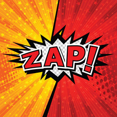 Zap! Comic Speech Bubble, Cartoon. art and illustration vector file.