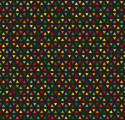Multicolored triangles mosaic vector pattern