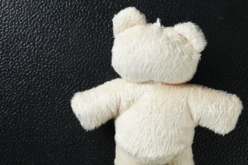 The fabric bear doll represent the girl toy concept related idea.