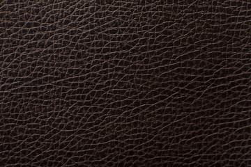 Keuken foto achterwand Leder Dark brown leather texture print as background.