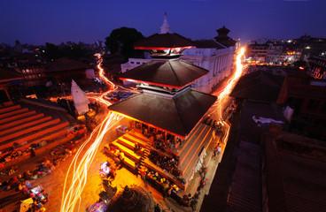 Night in Kathmandu Durbar Square