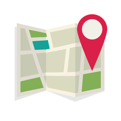 Location map flat design vector icon