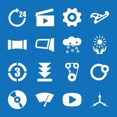 Set of 16 circle filled icons