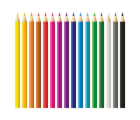 Colored pencils, crayons set, back to school