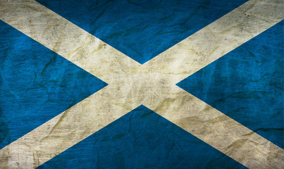 Scotland Flag on Paper