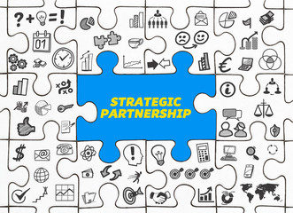 Strategic Partnership / Puzzle mit Symbole