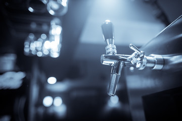 Beer tap in a bar or restaurant