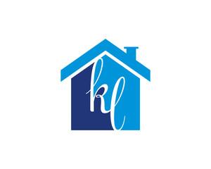 KL Letter And House Logo V.1