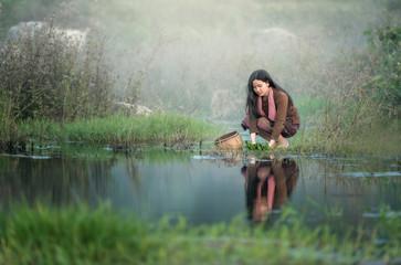 Rural girl worker.