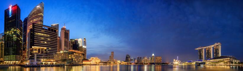 Fototapeta Singapore Skyline and view of Marina Bay