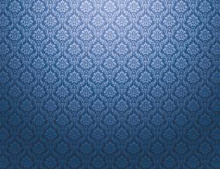 Blue damask pattern background