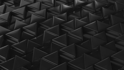 Mosaic of black triangles. 3D render. Background texture