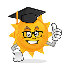 Image result for sun with graduation cap clipart