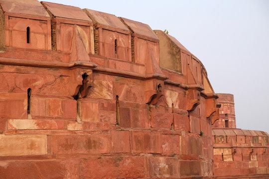 Red Agra Fort in Agra. Uttar Pradesh, UNESCO World heritage site, India