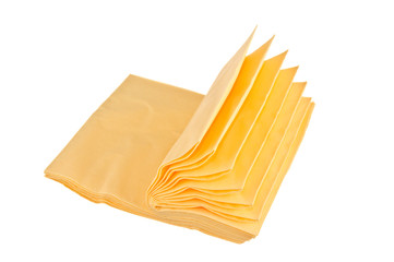 pile of yellow napkins for cleaning