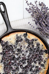 Blueberry Lavender Cobbler