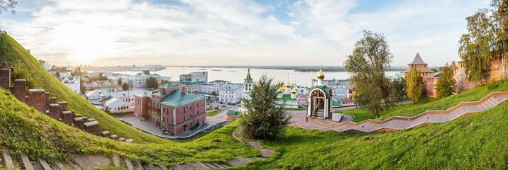 Нижегородский вид кремля, собора Иоанна Предтечи, Бугровской ночлежки и стрелки