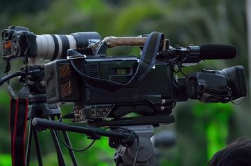digital slr and video camera
