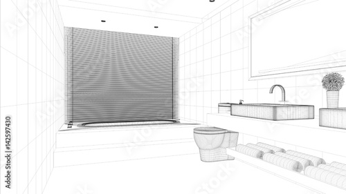 CAD Raumplanung für Badezimmer\